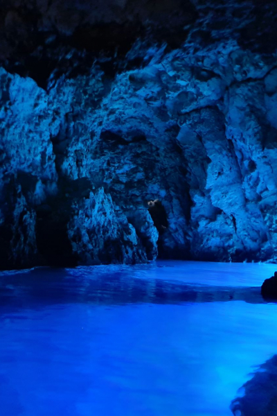Interieur of the Blue Cave