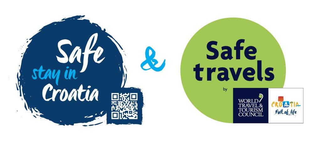 Safe stay in CroatiaWTTC Safe travels stamp blue QR poz1024 1
