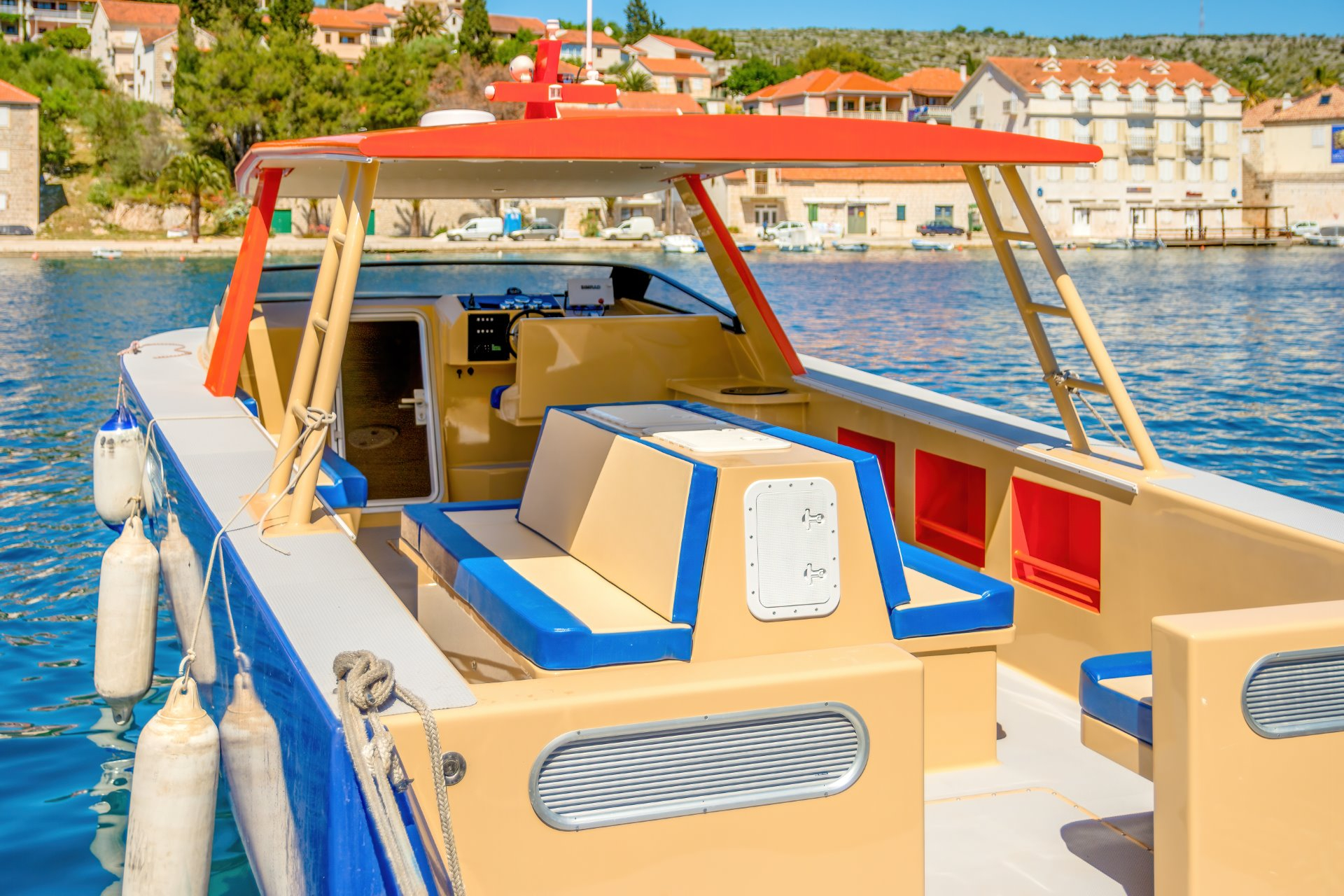 Interieur of luxury boat