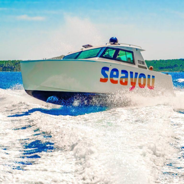 Luxury cabin boat