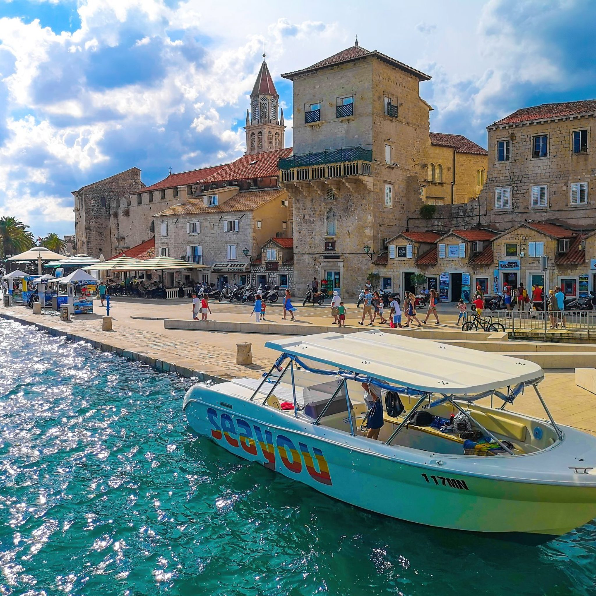 SeaYou boat docked at Trogir town